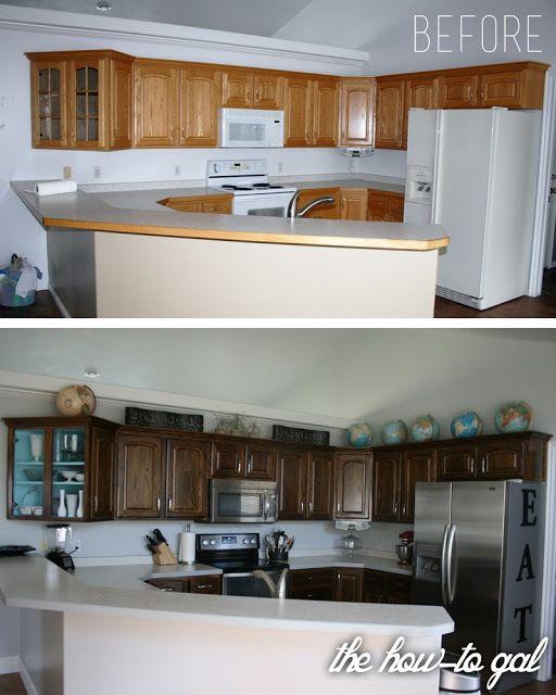 Best 25 Restaining Kitchen Cabinets Ideas On Pinterest