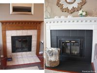 Fireplace (mini) facelift | For the Home | Pinterest ...