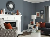 Living Room in Glidden's French Grey 70BG 19/071 | Color ...