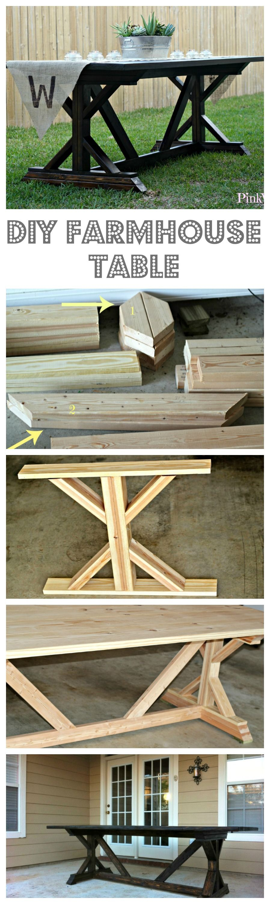 Inspiring table made out of leftover materials