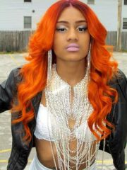 burnt orange box braids - google