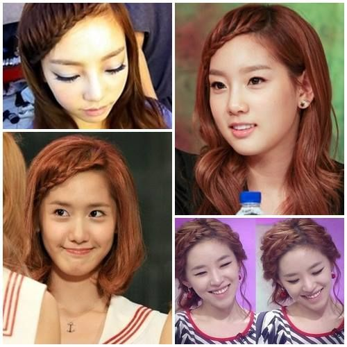 Korean Braided Hair Style #SNSD Hairstyles Pinterest SNSD