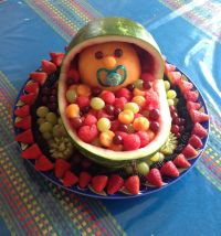 Fruit platter for Baby Shower.. ohkay this is pretty ...