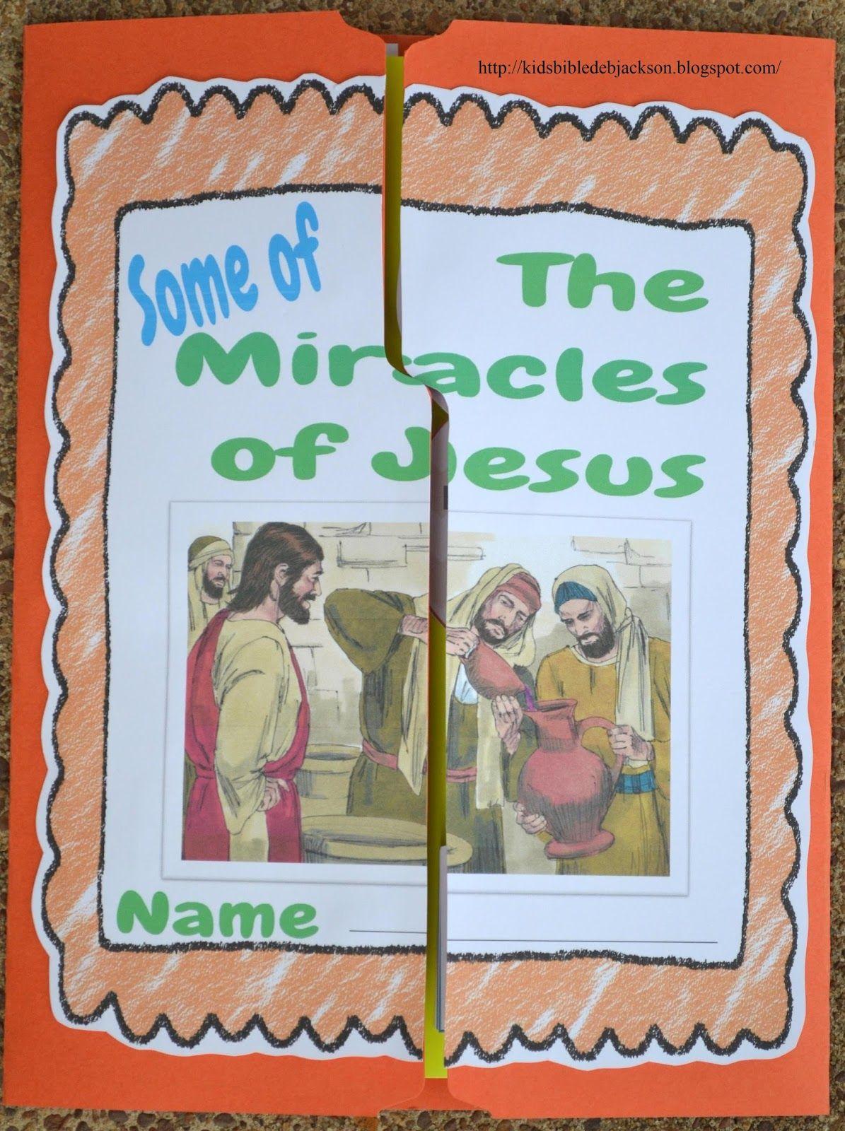 Bible Fun For Kids Miracles Of Jesus Lapbook