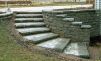 curved retaining wall ideas | The tread was built using ...