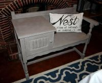 vintage gossip tables | Old Charm Telephone Table Gossip ...
