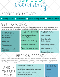 Speed cleaning cheat chart just making  bed makes the room seem also best images about on pinterest rh