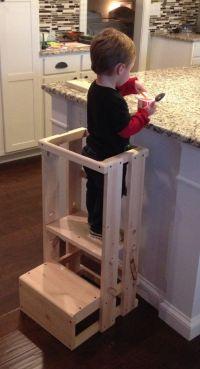 Child Kitchen Helper, Step Stool, Toddler Stool, Tot Tower ...