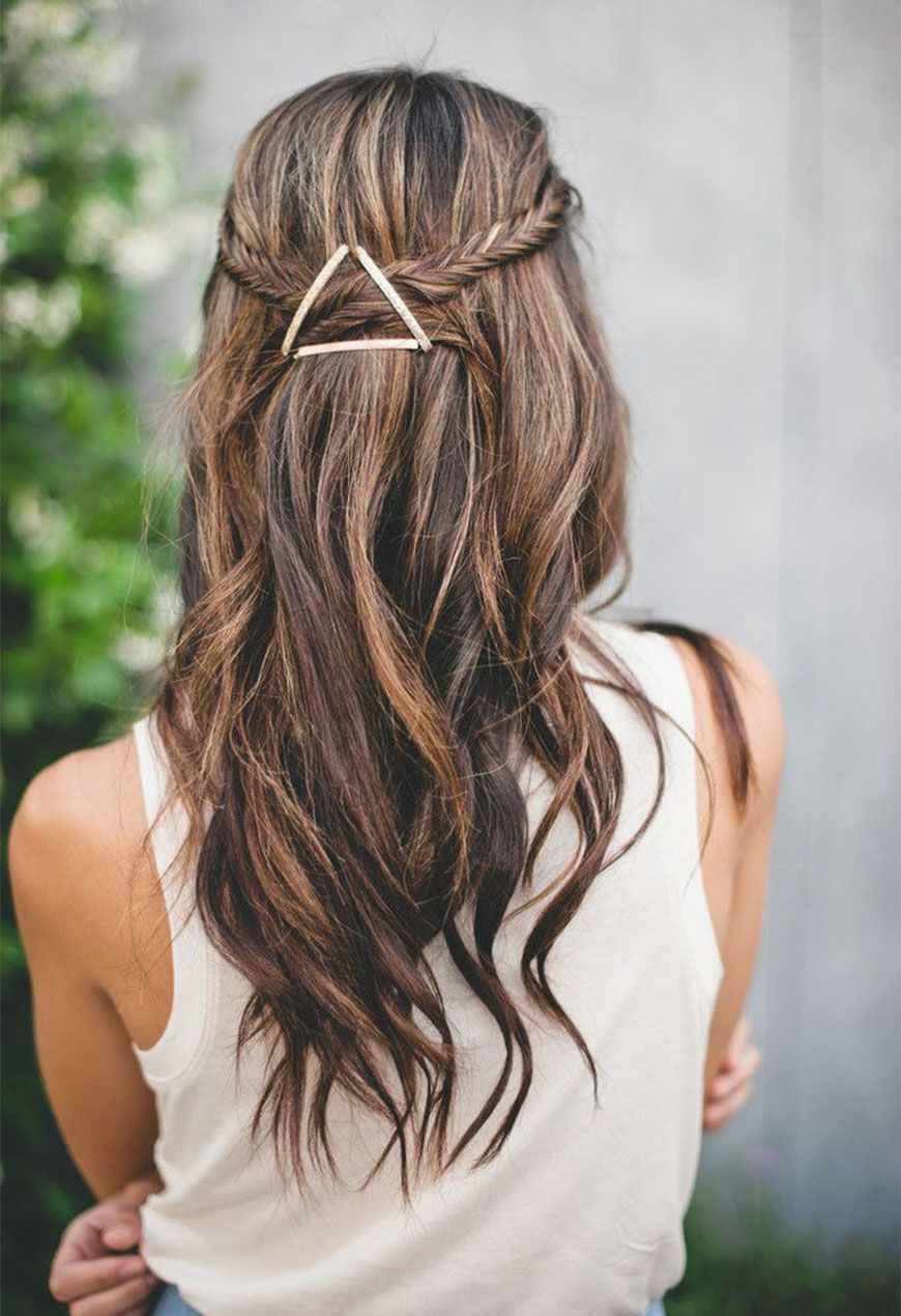 Your New Favorite Hot Weather Hairdo Summer Fishtail And Half