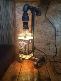 Lamp from black pipe and JD bottle. | Stuff I've made ...
