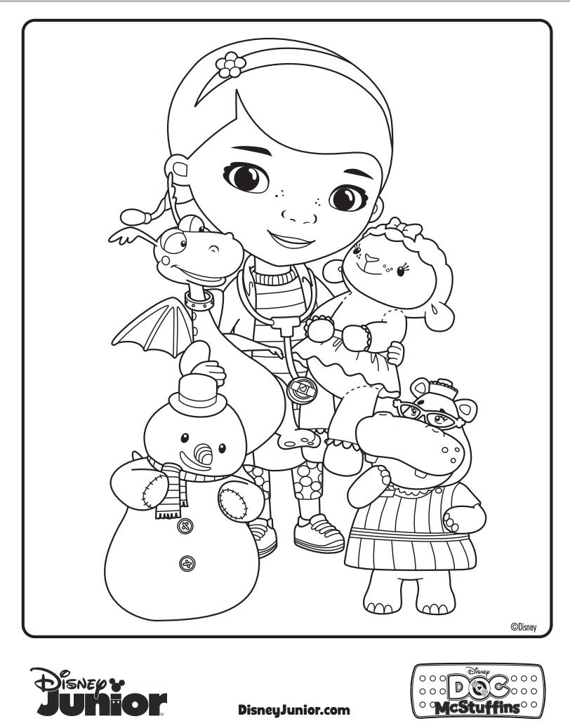 Have Your Little One Give Some Color To Doc Mcsutffins And Friends