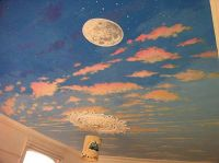 day/night Sky Ceiling Painting | Dream Home | Pinterest ...