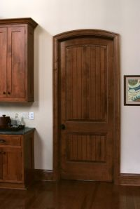 Solid Maple Sante Fe 8 ft interior door with traditional