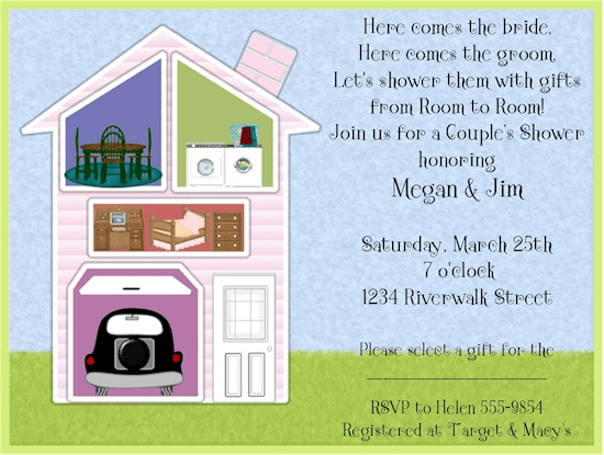 Around The House Bridal Shower Invitations Lets Plan Megs Shower