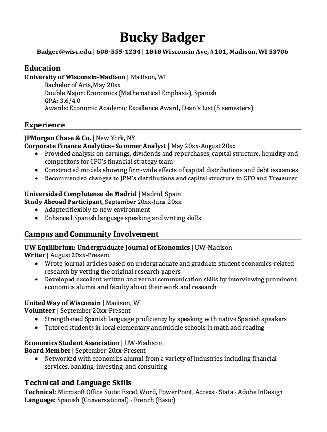 Resume For Study Abroad Participant Resumesdesign Com