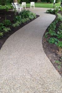 Exposed aggregate patio in Indiana by Hanson | Stamped ...