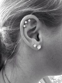 Triple Cartilage Piercing | Piercings | Pinterest ...