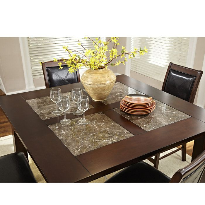 """$560 Granita 54"""" counter height dining table with granite"""