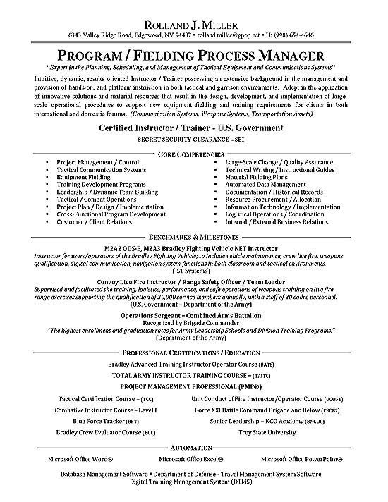 Process Manager Resume Example Firefighter Resume