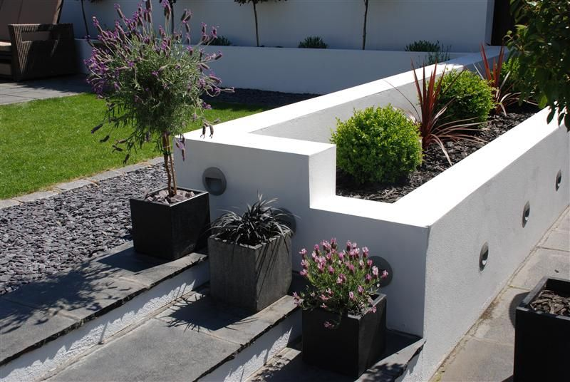 Limestone Steps Split Level Split Level Contemporary Gardens