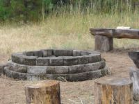 fire pit. driftwood seats. | backyard inspiration ...