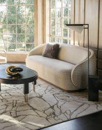 Kelly Wearstler Wetherly Sofa, Forma Floor Lamp, Melange ...