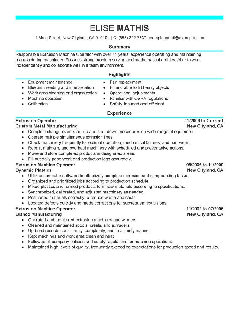 Forklift Operator Resume Examples Examples Of Resumes