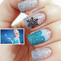 This is so cute!! Frozen inspired nails Who loves the ...