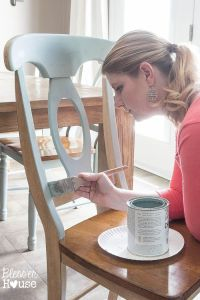Distressed Duck Egg Dining Chairs Makeover | Duck egg blue ...
