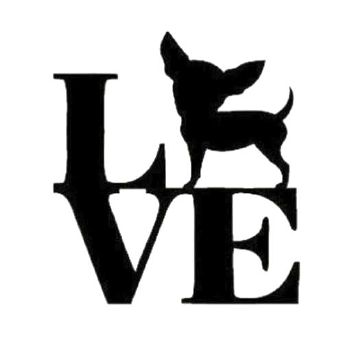 Download Love Chihuahua Die Cut Vinyl Decal PV744 | Silhouette ...