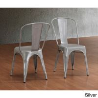 Tabouret Bistro Steel Dining Chairs (Set of 2) by I Love