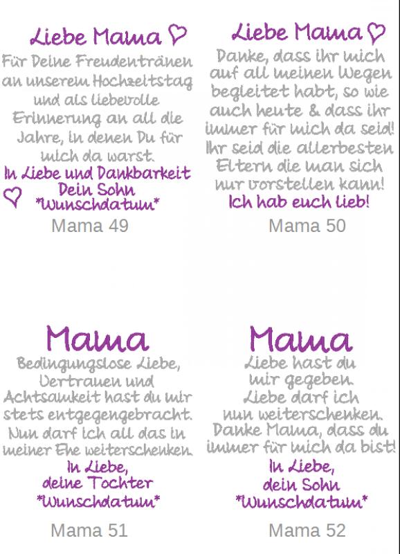 Besticktes Taschentuch Mama  Hochzeit  Pinterest