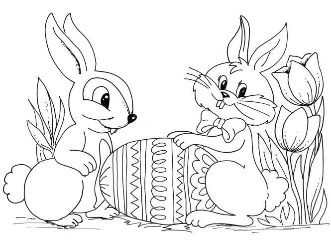 Easter Rabbit Coloring Pages For Kids Free Printable Texas Life