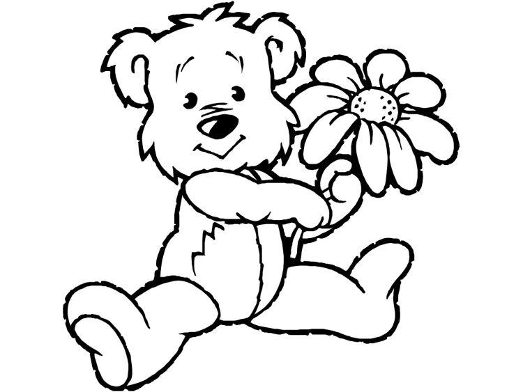 Kinder-malvorlagen-tiere-barchen-blume Bären Gruppe ab 8