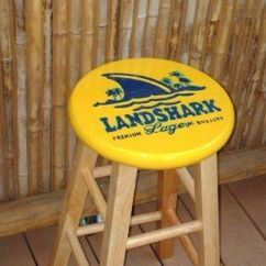 Stool Chair Dream Meaning Wheelchair Ramp Angle Landshark Lager Barstool | Hand Painted Bar Stools By Me! Pinterest Stools, Men ...