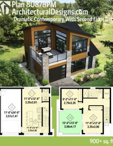 Plan pm dramatic contemporary with second floor deck home design also decks rh in pinterest