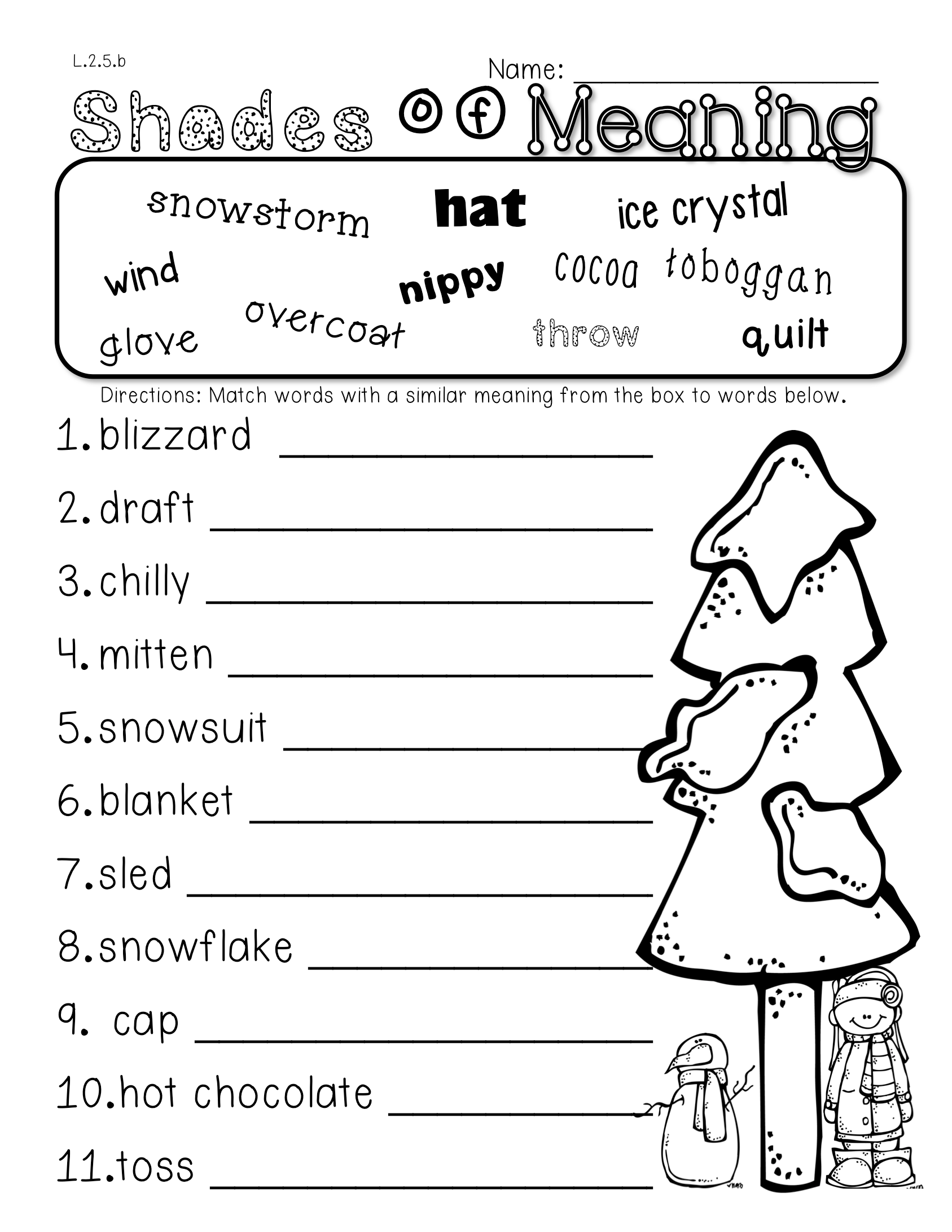 2nd Grade Common Core Winter Themed Math Amp Ela Pack 100