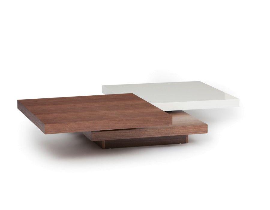 picasso table basse pivotante noyer
