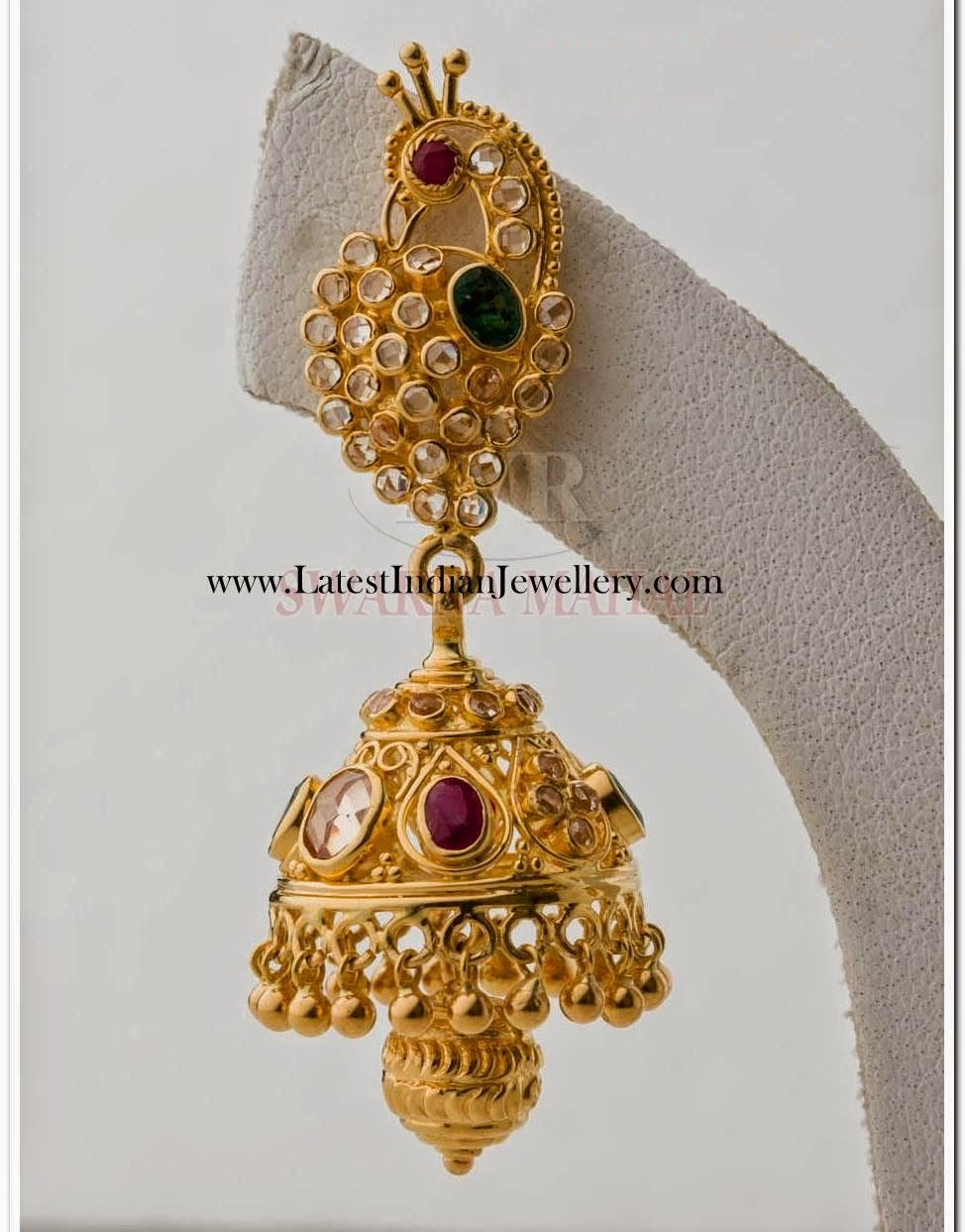 Uncut Diamond Jhumka Earring