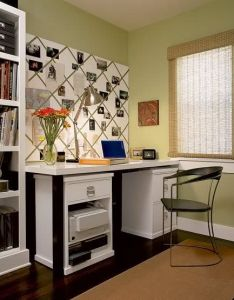 Love the picture board behind desk idea also home decor that  rh fi pinterest