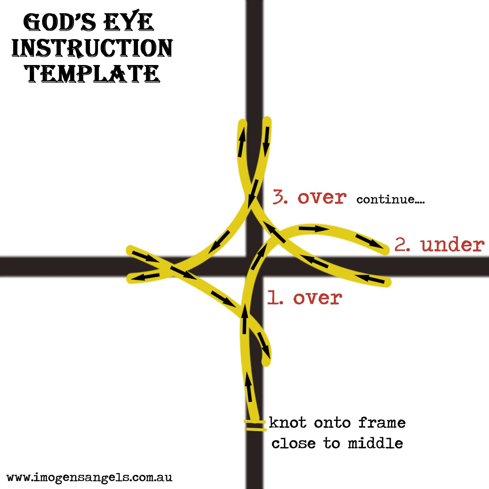 photo relating to God's Eye Printable Instructions named Gods Eye Craft Guidelines - 12 months of Refreshing Drinking water