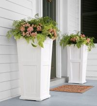 Lexington Tall Self-Watering Planter Either side of the ...
