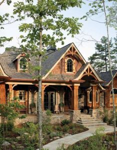 Faux wood beams molded from real for vividly realistic look and feel wonderful wooden also magnificent log houses ideas the house pinterest rh