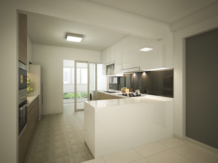 Transformation Of A 20 Year Old HDB 4 Room Flat Into A Modern