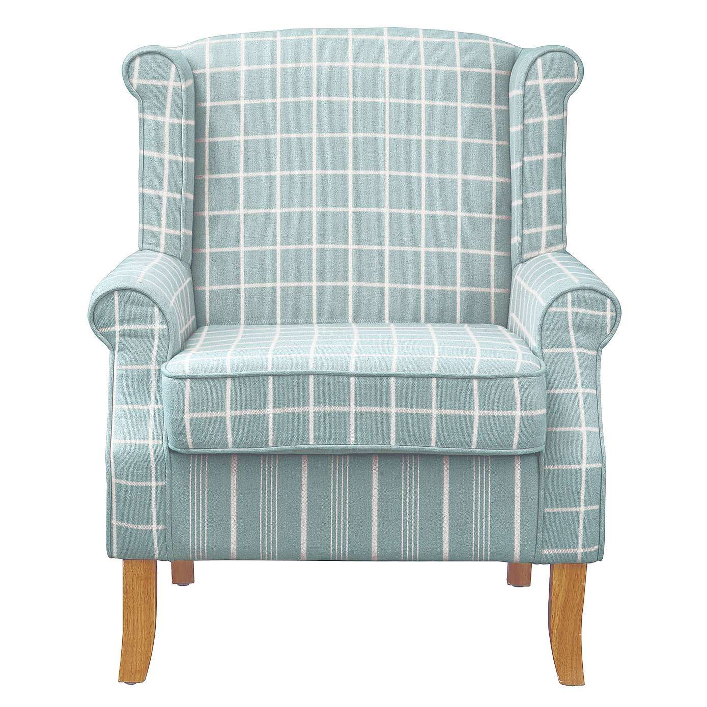 recliner chair covers dunelm free church chairs donation duck egg check edinburgh wingback armchairs