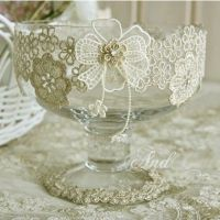 DIY lace wine glass for wedding banquet supplies and home ...