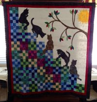 My version of stairway to cat heaven | My Finished Quilts ...