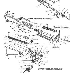 M16 Upper Receiver Assembly Diagram Cellular Phone Tower Signal Ar 15 Exploded View Survival