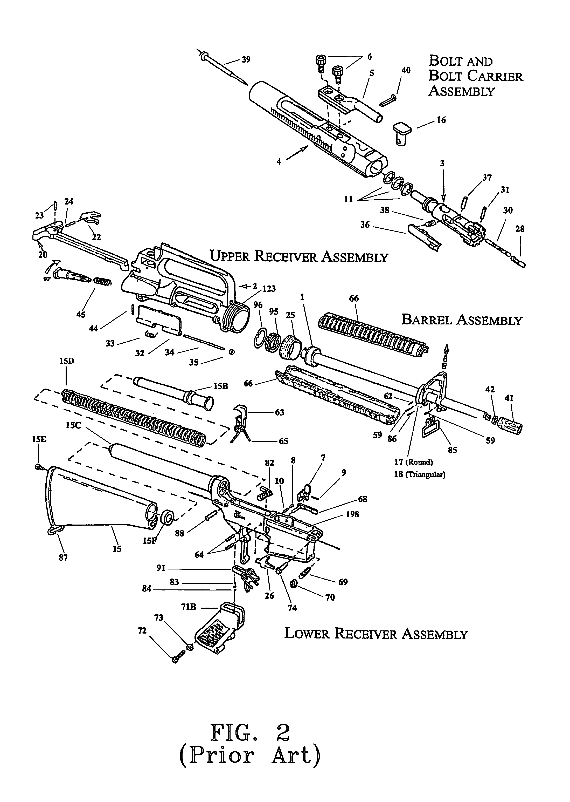 ar 15 lower diagram 2001 honda accord wiring upper receiver exploded view survival