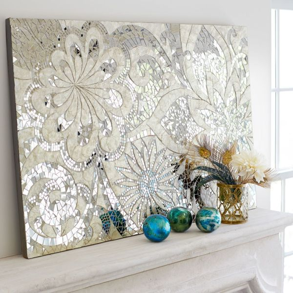 Floral Capiz Mosaic Wall Panel Mirror Tiles Indonesia And Mosaics